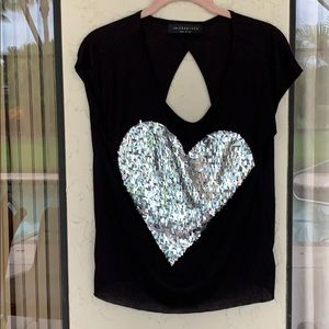 Adorable heart with sparkle top, s